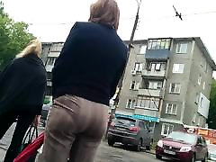 Mature big ass milf in pants