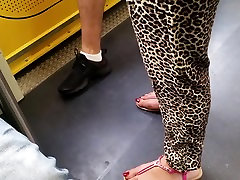 perfect turkish feet wiht very long red toenails