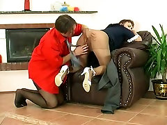 Mature Maid is Fucked in Pantyhose