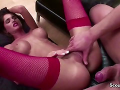 Hottest Big Tit Teen in Stockings Anal Fucked by Big Cock