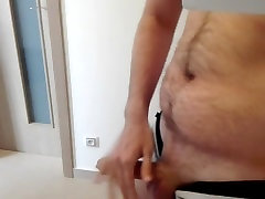 Young bear horny after gym 2 - jerk and cbt