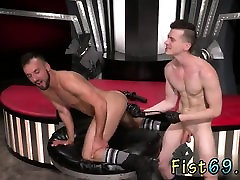 Nude movie post fisting gay Aiden Woods is on his back and s