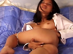 Dildo Thrusting For Horny Asian Teen Amateur From Thailand