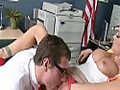Nerd Fucks with Blonde Babe at School