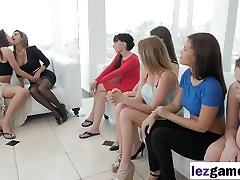 Lesbian orgy with hot babe sluts