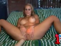 Blonde With A Big Ass Dildo