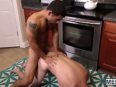 Horny little twink boy gets his meat hole demolished by rod