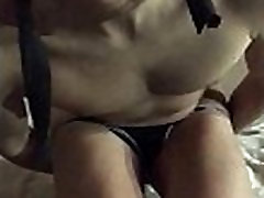 First time anal with a cucumber, sucking and fucking, painful and handsfree cum