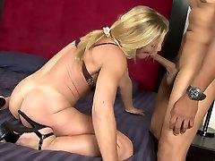 Amazing pornstar Violet Vamp in crazy blonde, mature sex movie