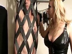 Amazing homemade Blonde, Femdom sex clip