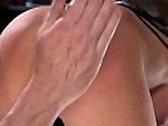 Big tits blonde hard whipped in bondage