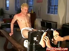 Rusty & in A blonde twink dude tied up and tickled all over his body - FootFriends
