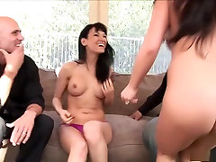 Hottest pornstars Victoria Sin and Mia Lelani in crazy interracial, group sex porn clip