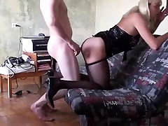 Best Homemade Shemale movie with Blonde, Stockings scenes