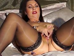 Sexy British mom Christine with big natural tits