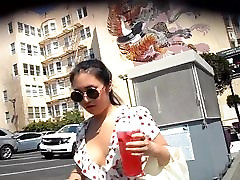 BootyCruise: Downtown Asian Braless Cam 2