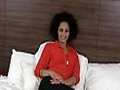 Ebony beauty is satisfied to maximum
