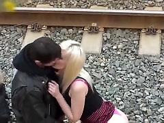 Hot couple voyeur, girl with nice ass and tits, outdoor fuck