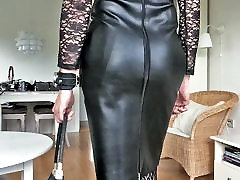 Sissy Sexy Leather Dress and Boots