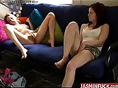 Girl Watches as Her Female Friend is Jerking off-More Videos On Jasminfuck.com