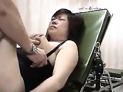 Asian fetish slut blowjob and ass enema