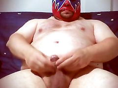 chubby man with little cock cum