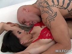 MILFGonzo Petite and busty MILF Heather Vahn fucked