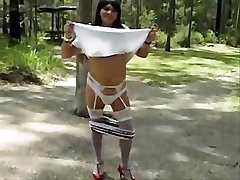 Crazy homemade shemale scene with Stockings, Solo scenes