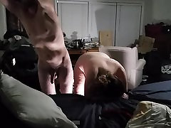 Angle 1 fucking my bbw huge tit wife from behind and creampi