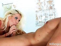 Dirty big boobs nurse loves hard cock and cum