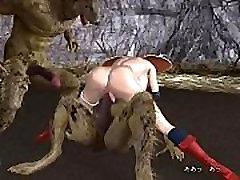 Wolves captured the big-tit Girl 3D-Pornasticcam.com