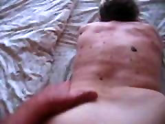 76 year old granny doggy-style with anal creampie
