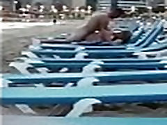 Young couple caught fucking at beach