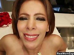 POV Milf with Big Tits gets a facial