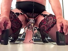 Crazy amateur shemale movie with DildosToys, Lingerie scenes
