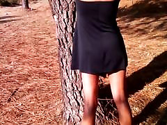 The little black dress and the big black dildo