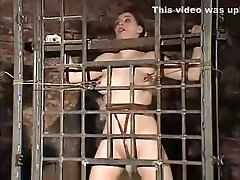 Horny homemade Brunette, BDSM sex clip