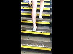 Teen Bare Legs Tight Ass Shorts