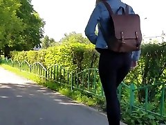 very nice russian ass in black jeans.mp4