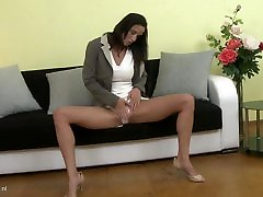 Naughty MILF Charis with big tits and pussy