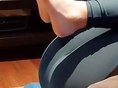 Ass and Camel Toe in Tight Leggings