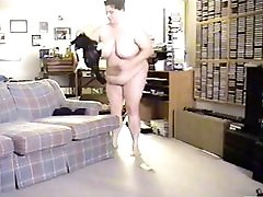 Chunky Busty Mom On Hidden Cam Dressing For Work