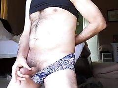 Stroking in wife&039;s panties