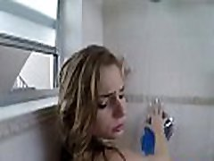 Sydney Cole cum facialed in shower room