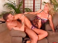 Big tit babe Vicky Vette getting her tight cunt banged on the couch