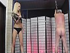 Hot young blonde mistress whips her slave - Avapink.com