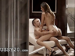 Luxury sex with charming babe on a chair