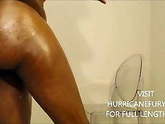 squirting: oiled phat ass twerkin into BACK to BACK creamy squirts