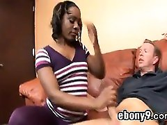 Ebony Beauty Being Drilled By A White Cock