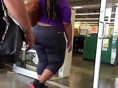 Big Ass Ebony Booty Spandex VPL
